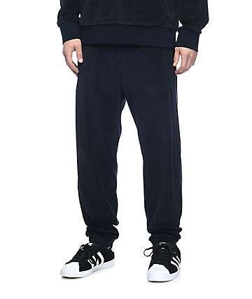 Primitive Velour pantalones de terciopelo en azul marino
