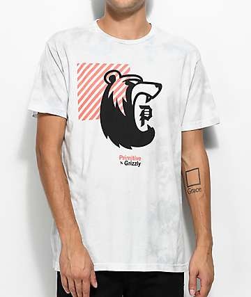 Primitive X Grizzly Bearhaus camiseta gris