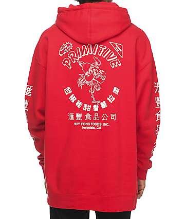 Primitive X Huy Fong sudadera roja con capucha