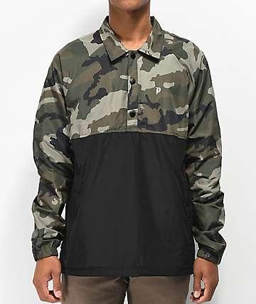 Primitive chaqueta anorak en negro y camuflaje