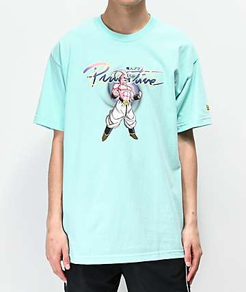 Primitive x Dragon Ball Z  Nuevo Majin Buu Celadon Blue T-Shirt