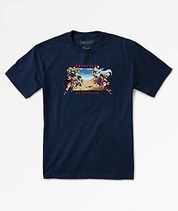 Primitive x Dragon Ball Z Battle Navy T-Shirt