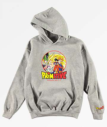 ddb2c1945 Primitive x Dragon Ball Z Boys Circle Grey Hoodie