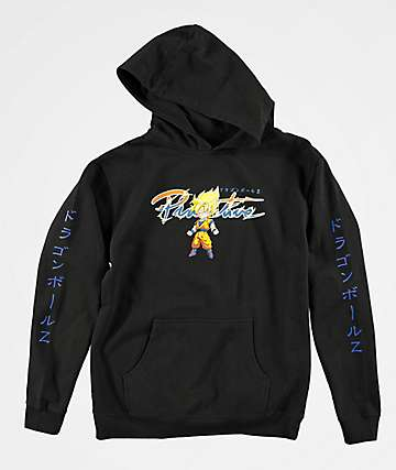 Primitive x Dragon Ball Z Boys Nuevo Super Saiyan Goku Black Hoodie