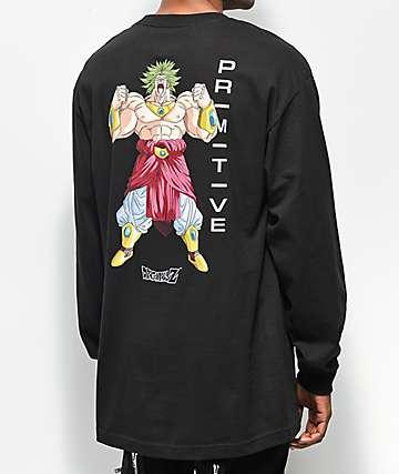 Primitive x Dragon Ball Z Broly Black Long Sleeve T-Shirt