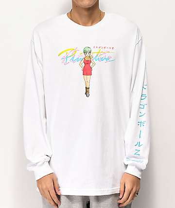 Primitive x Dragon Ball Z Bulma White Long Sleeve T-Shirt