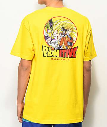 Primitive x Dragon Ball Z Circle camiseta amarilla