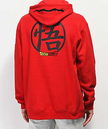 Primitive x Dragon Ball Z Club sudadera con capucha roja