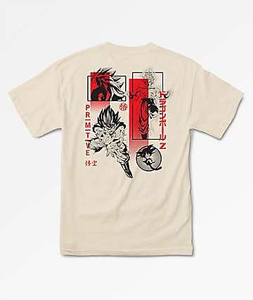 Primitive x Dragon Ball Z Collage Cream T-Shirt