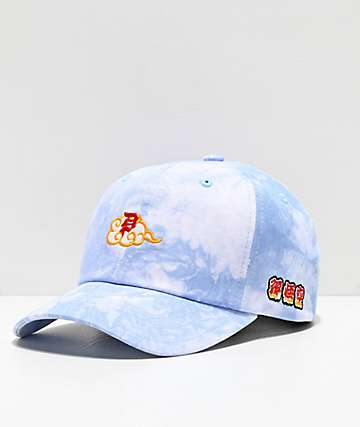 Primitive x Dragon Ball Z Dirty P Blue Tie Dye Strapback Hat