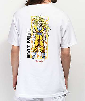 Primitive x Dragon Ball Z Goku Glow White T-Shirt