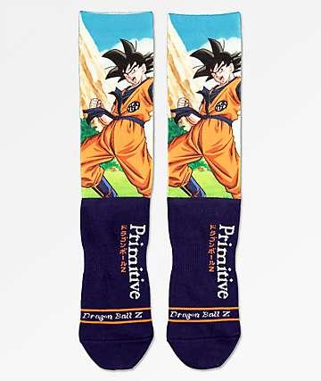 Primitive x Dragon Ball Z Goku Navy Crew Socks