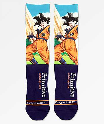 Primitive x Dragon Ball Z Goku Navy Crew Socks