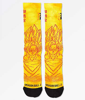 Primitive x Dragon Ball Z Goku Saiyan Orange Crew Socks