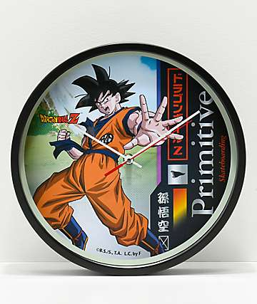 Primitive x Dragon Ball Z Goku Wall Clock