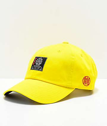 Primitive x Dragon Ball Z Goku gorra strapback reflectante en amarillo