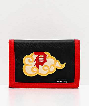 Primitive x Dragon Ball Z Nimbus Black & Red Trifold Wallet