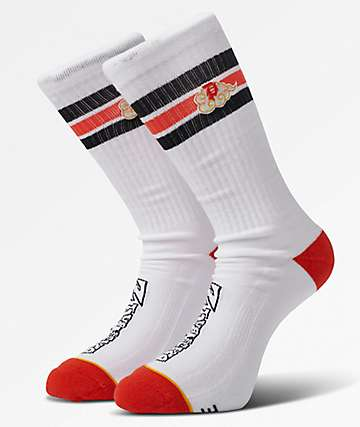 Primitive x Dragon Ball Z Nimbus Ringer calcetines blancos