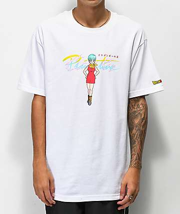 Primitive x Dragon Ball Z Nuevo Bulma camiseta blanca