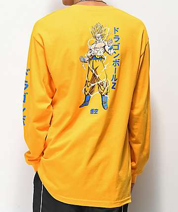 Primitive x Dragon Ball Z Nuevo Goku Gold Long Sleeve T-Shirt