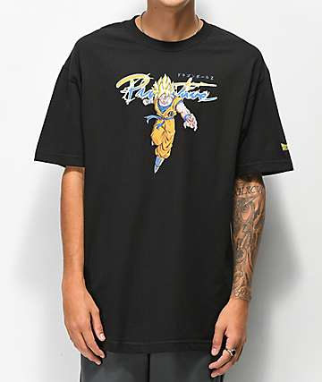 Primitive x Dragon Ball Z Nuevo Goku Saiyan Black T-Shirt