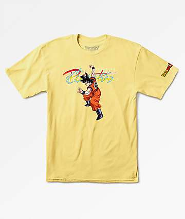 Primitive x Dragon Ball Z Nuevo Goku Yellow T-Shirt