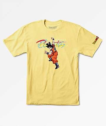 Primitive x Dragon Ball Z Nuevo Goku Yellow T-Shirt