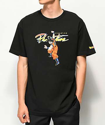 Primitive x Dragon Ball Z Nuevo Goku camiseta negra
