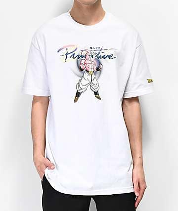 Primitive x Dragon Ball Z Nuevo Majin Buu White T-Shirt