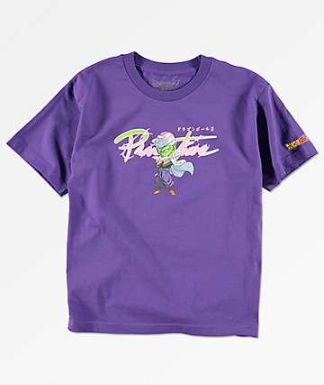 Primitive x Dragon Ball Z Nuevo Piccolo camiseta morada para niños