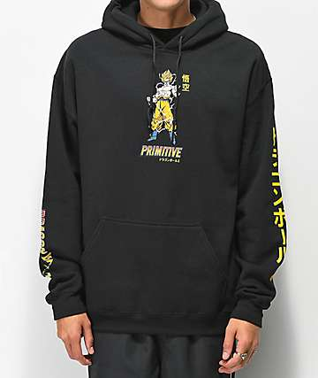 Primitive x Dragon Ball Z Nuevo Super Saiyan Goku Black Hoodie