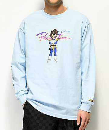 Primitive x Dragon Ball Z Nuevo Vegeta Blue Long Sleeve T-Shirt