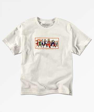 Primitive x Dragon Ball Z Nuevo camiseta blanca para niños