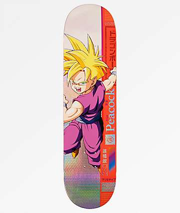 "Primitive x Dragon Ball Z Peacock Gohan 8.25"" tabla de skate"