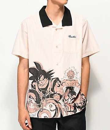 Primitive x Dragon Ball Z Pink Woven Shirt