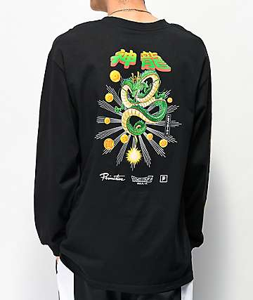 Primitive x Dragon Ball Z Shenron Black Long Sleeve T-Shirt