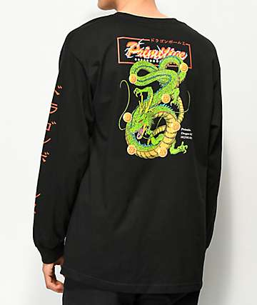 Primitive x Dragon Ball Z Shenron Club camiseta negra de manga larga