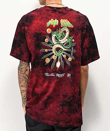 Primitive x Dragon Ball Z Shenron Red Wash T-Shirt