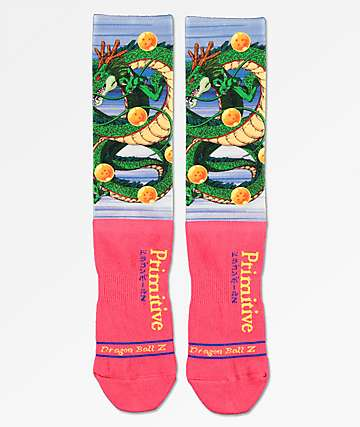 Primitive x Dragon Ball Z Shenron calcetines rojos