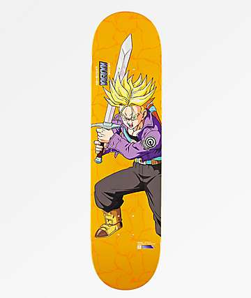 "Primitive x Dragon Ball Z Super Saiyan Trunks Najera Reflective 8.0"" Skateboard Deck"