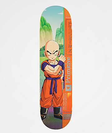 "Primitive x Dragon Ball Z Team Krillin 8.125"" tabla de skate"