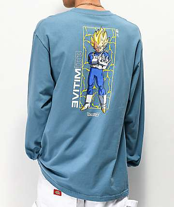 Primitive x Dragon Ball Z Vegeta Glow Blue Long Sleeve T-Shirt