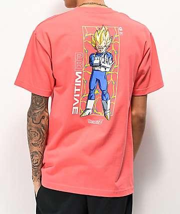 Primitive x Dragon Ball Z Vegeta Glow Pink T-Shirt