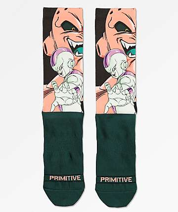 Primitive x Dragon Ball Z Villains Dark Green Crew Socks
