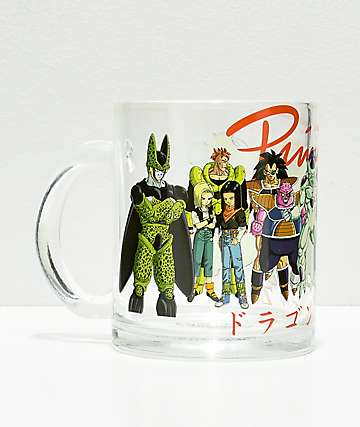 Primitive x Dragon Ball Z Villains taza de vidrio