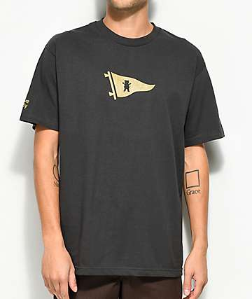 Primitive x Grizzly Bear Pennant Vintage Black T-Shirt