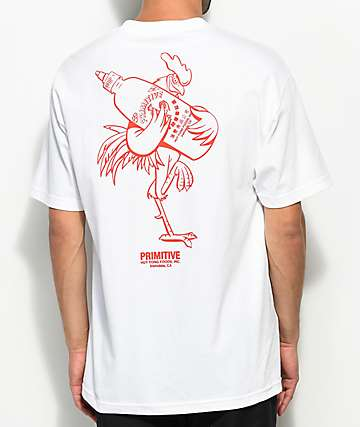 Primitive x Huy Fong Big Rooster White T-Shirt