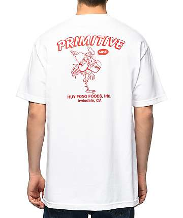 Primitive x Huy Fong Saucy White T-Shirt