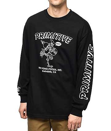 Primitive x Huy Fong Saucy camiseta negra de manga larga