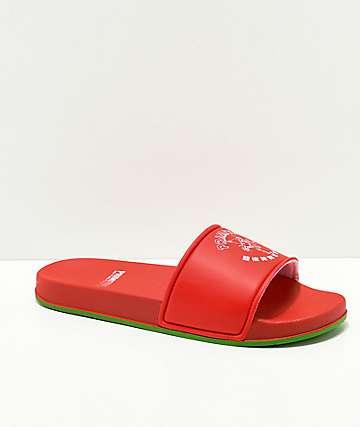 Primitive x Huy Fong sandalias rojas
